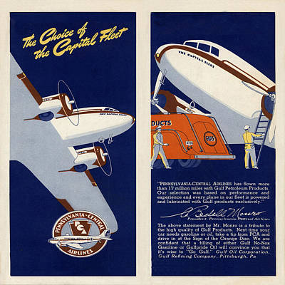 Vintage Airline Ad 1940 Print by Andrew Fare