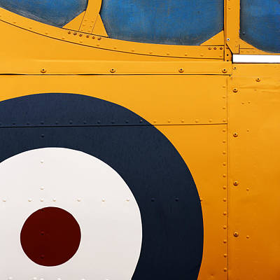 Vintage Airplane Abstract Design Print by Carol Leigh