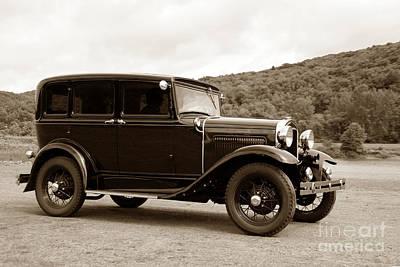 Duotone Photograph - Vintage Automobile Speeding by Olivier Le Queinec