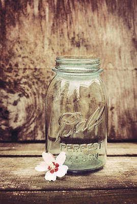Mason Jars Photograph - Vintage Ball Mason Jar by Terry DeLuco