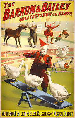 Vintage Barnum And Bailey Poster - 1900 Print by Mountain Dreams