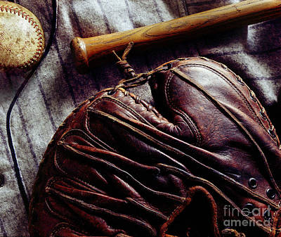 Vintage Baseball Print by Jon Neidert