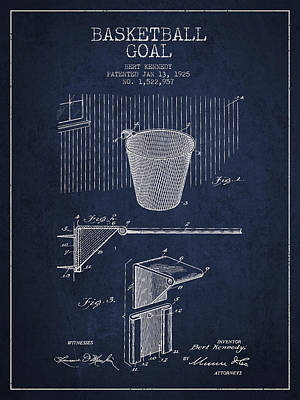 Vintage Basketball Goal Patent From 1925 Print by Aged Pixel