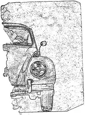 Vintage Beetle Print by Jon Neidert