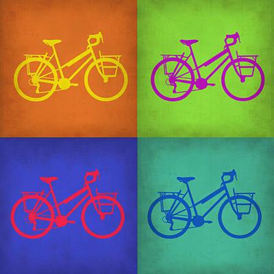 Motorcycles Digital Art - Vintage Bicycle Pop Art 1 by Naxart Studio