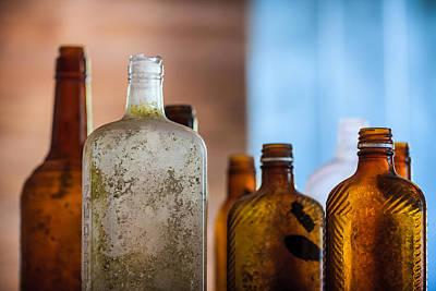 Booze Photograph - Vintage Bottles by Adam Romanowicz