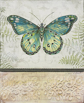 Graphic Digital Art Painting - Vintage Butterfly-jp2567 by Jean Plout