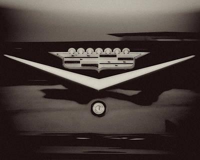 Vintage Cadillac Emblem Print by Lisa Russo