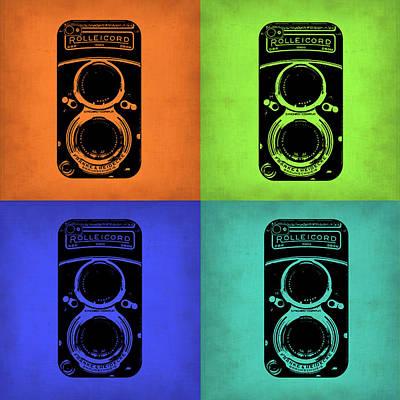 Vintage Cameras Painting - Vintage Camera Pop Art 1 by Naxart Studio