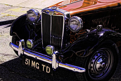 Car Photograph - Vintage Car Art 51 Mg Td Copper by Lesa Fine