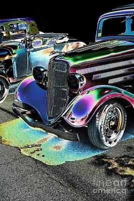 Vehicle Digital Art - Vintage Ford Car Art Nbr 182 Neon by Lesa Fine