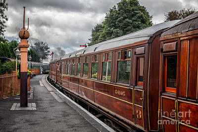Wooden Platform Photograph - Vintage Carriages by Adrian Evans