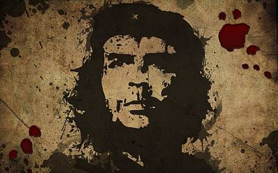 Blood Photograph - Vintage Che by Gianfranco Weiss