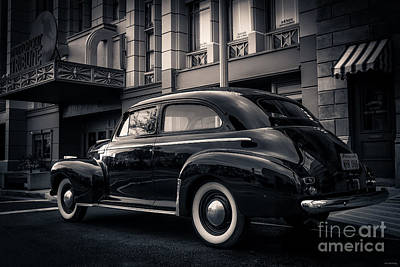 Vintage Chevrolet In 1934 New York City Print by Edward Fielding