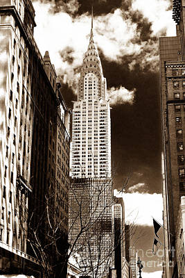 Vintage Chrysler Building Print by John Rizzuto
