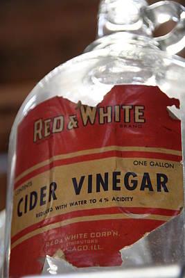 Country Scenes Photograph - Vintage Cider Vinegar by Heather Allen