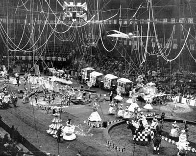 Vintage Circus Inside Tent Print by Retro Images Archive