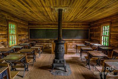 Log Cabin Art Photograph - Vintage  by Anthony Heflin