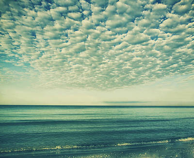 Reflections Of Sky In Water Photograph - Vintage Clouds by Kim Hojnacki