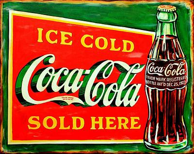 Coca Cola Signs Painting - Vintage Coca-cola Sign by Karl Wagner