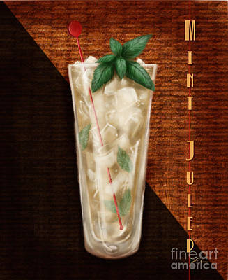 Orange Julep Mixed Media - Vintage Cocktails-mint Julep by Shari Warren