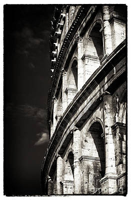 Rome Photograph - Vintage Colosseum by John Rizzuto