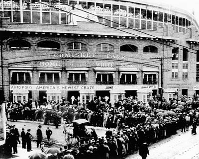 Sox Photograph - Vintage Comiskey Park - Historical Chicago White Sox Black White Picture by Horsch Gallery