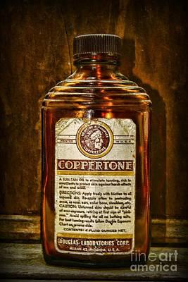 Vintage Coppertone Bottle Print by Paul Ward
