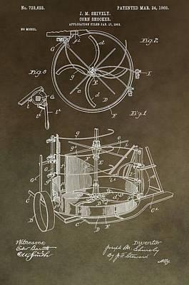 Vintage Corn Shocker Patent Print by Dan Sproul