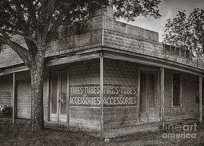 Vintage D'hanis Texas Business Print by Priscilla Burgers