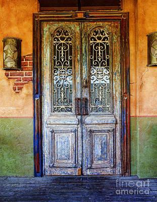 Grate Photograph - vintage door in Hico TX by Elena Nosyreva