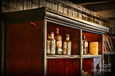 Apothecary Photograph - Vintage Druggist Shelf by Paul Ward