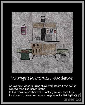 Vintage Enterprise Woodstove Print by Barbara Griffin