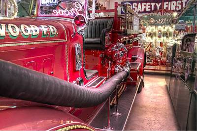 Old Firetrucks Photograph - Vintage Firetruck Safety First by Jane Linders