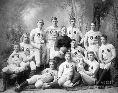 Football Photograph - Vintage Football Circa 1900 by Jon Neidert