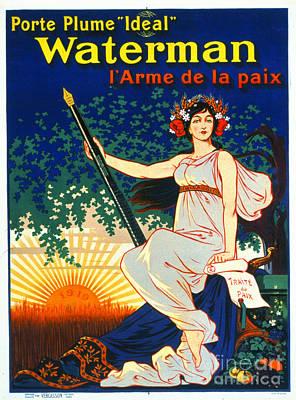 Cornucopia Photograph - Vintage French Fountain Pen Advertisement 1919 by Padre Art
