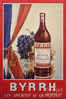 Vintage French Poster Byrrh Print by Olivier Le Queinec