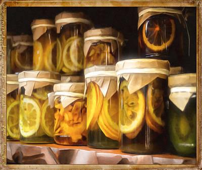 Vintage Fruit And Vegetable Preserves IIII Print by Georgiana Romanovna