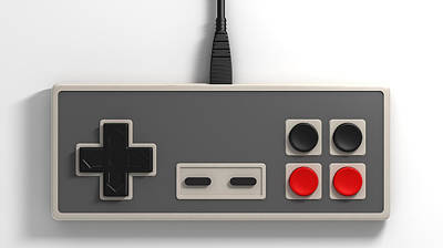 Childhood Digital Art - Vintage Gaming by Allan Swart