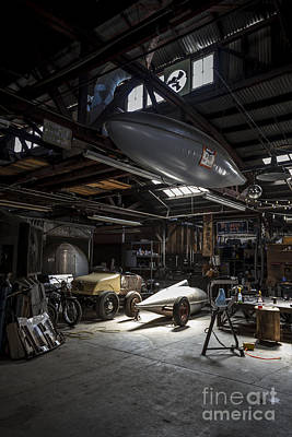 Holly Martin Photograph - Vintage Garage - Metal And Speed by Holly Martin