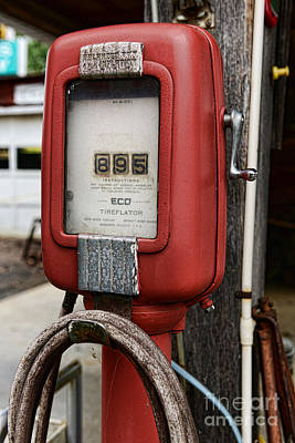 Vintage Gas Station Air Pump 1 Print by Paul Ward