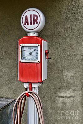 Vintage Gas Station Air Pump 2 Print by Paul Ward