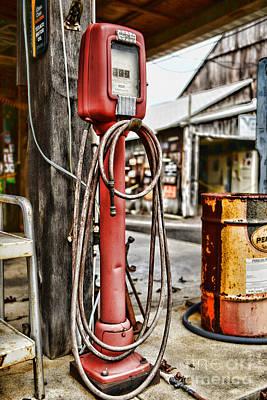 Vintage Gas Station Air Pump 3 Print by Paul Ward