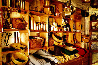 Artifacts Photograph - Vintage General Store by David Patterson