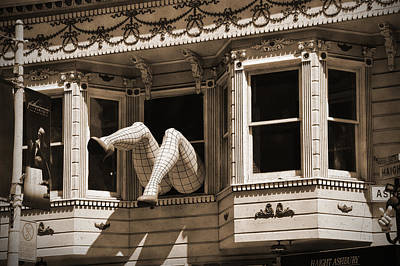 Vintage Haight And Ashbury San Francisco Print by RicardMN Photography