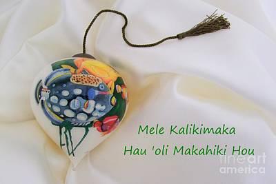 Photograph - Vintage Hawaiian Christmas Bulb by Mary Deal