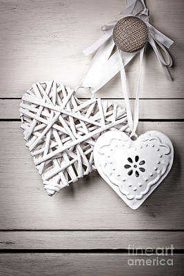 Willow Photograph - Vintage Hearts by Jane Rix