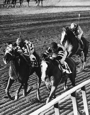 Vintage Horse Racing First Family Print by Retro Images Archive