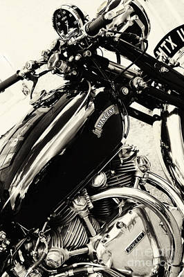 Vintage Hrd Vincent Series C Black Shadow Print by Tim Gainey