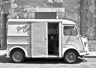 Vintage Ice Cream Truck Print by Georgia Fowler